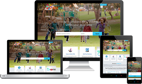 Brisbane Child Care displayed beautifully on multiple devices